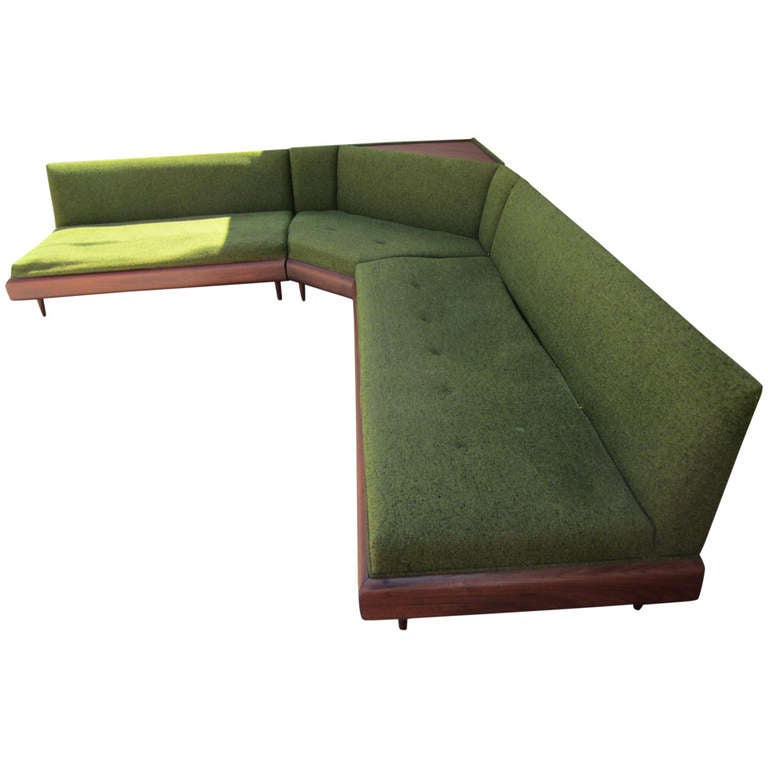 Wonderful Adrian Pearsall Four-Piece Sectional Sofa Mid-Century Modern 1  sc 1 st  1stDibs : mid century sectional - Sectionals, Sofas & Couches