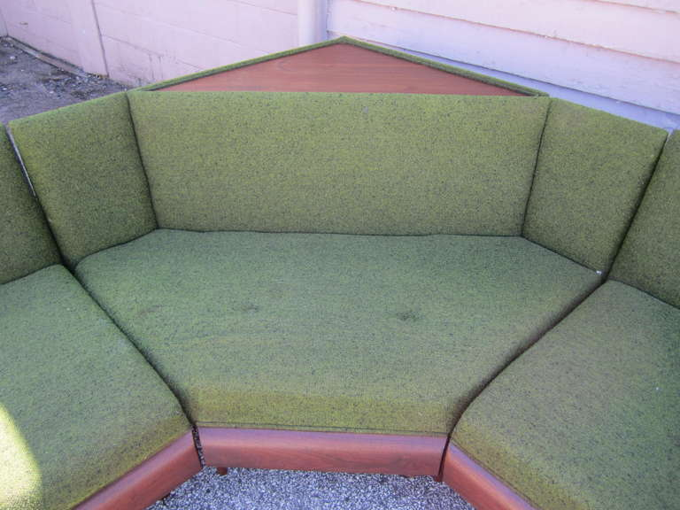 Wonderful Adrian Pearsall Four-Piece Sectional Sofa, Mid-Century Modern In Good Condition In Medford, NJ