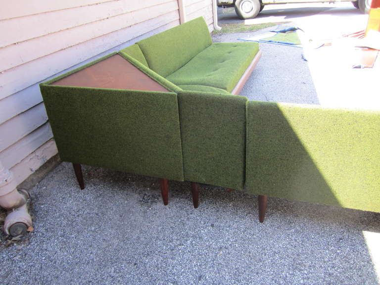Mid-20th Century Wonderful Adrian Pearsall Four-Piece Sectional Sofa, Mid-Century Modern
