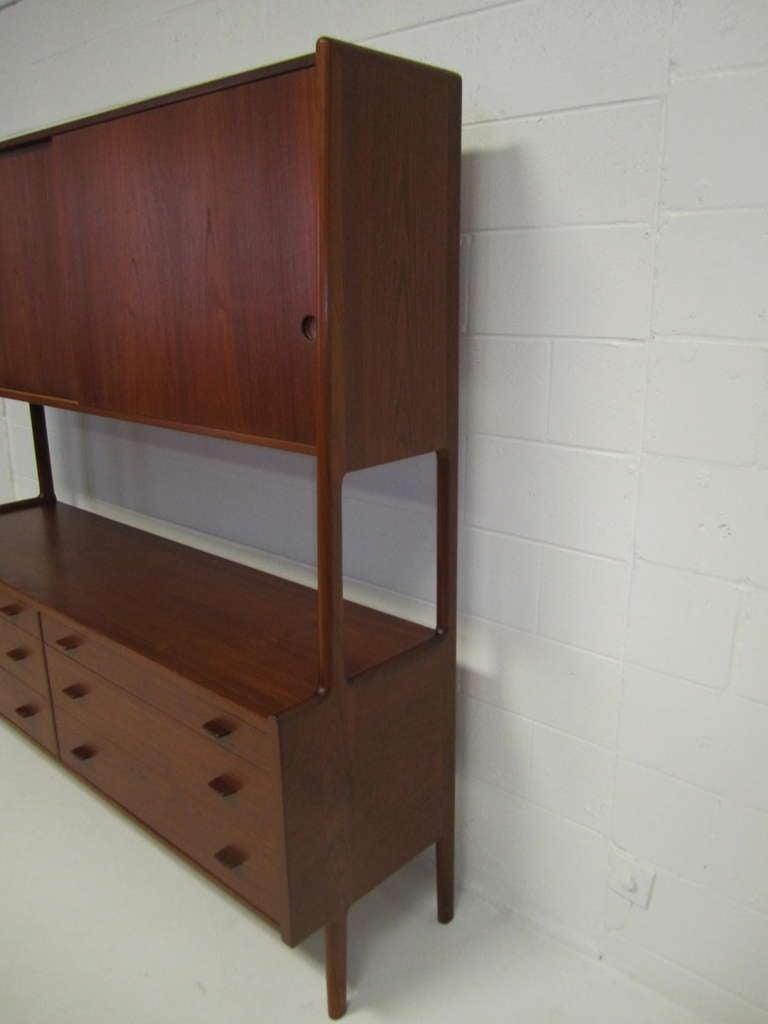 Impressive Danish Modern Teak Cabinet Designed By Hans