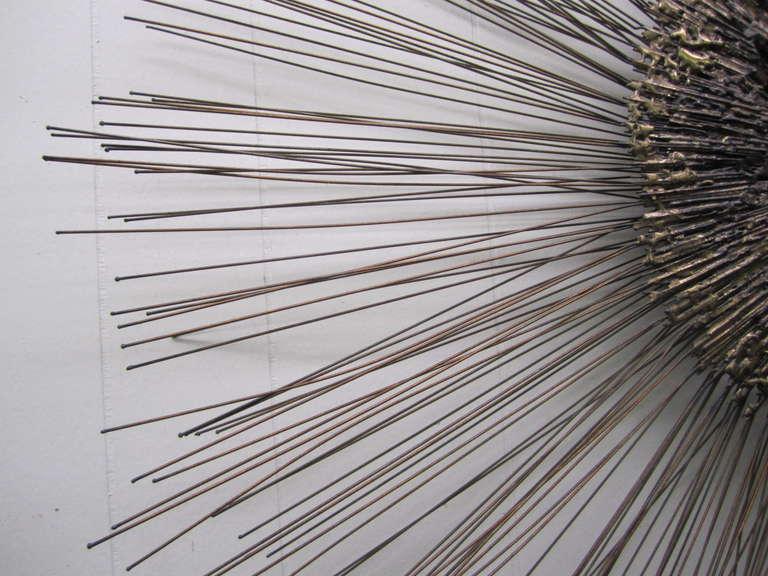 Outstanding C Jere Brutalist Starburst Wall Sculpture Mid