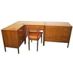 Rare Five-Piece Drexel Counterpoint Modular Desk Dresser Mid-Century Modern