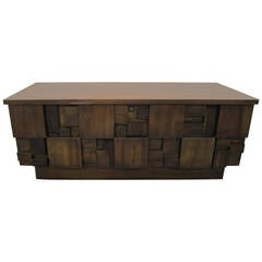 Rare Lane Brutalist Mosaic Hope Chest Paul Evans Style Mid-Century Modern