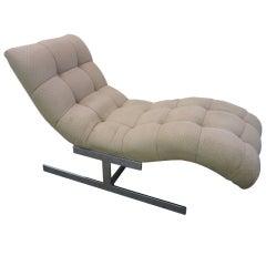 Milo Baughman Wave Chaise Longue Chair Mid-century Modern