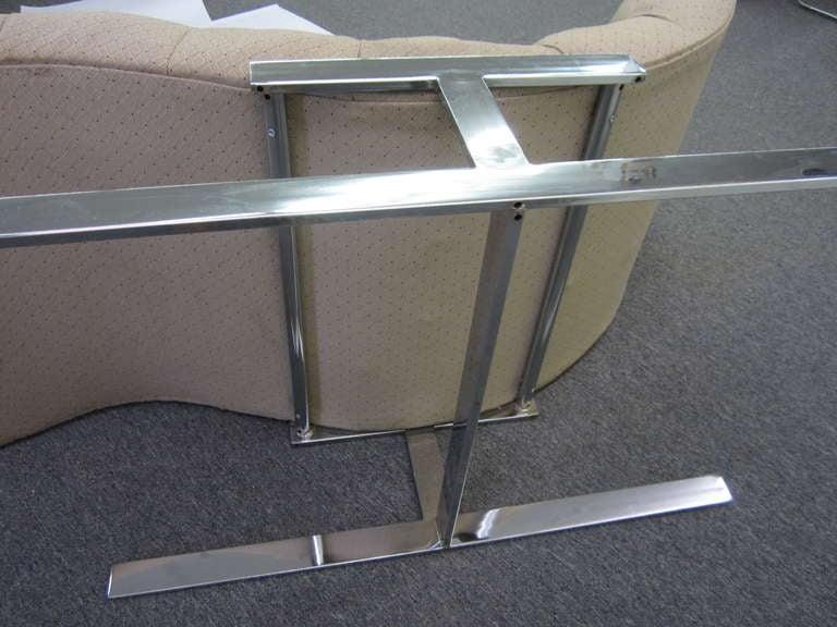 Milo baughman wave chaise longue chair mid century modern for Mid century modern chaise lounge chairs