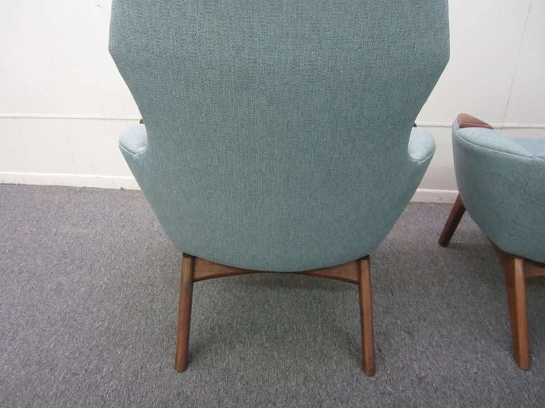 Mid-Century Modern Spectacular Pair of Adrian Pearsall High Back Chairs Mid-Century Danish Modern For Sale