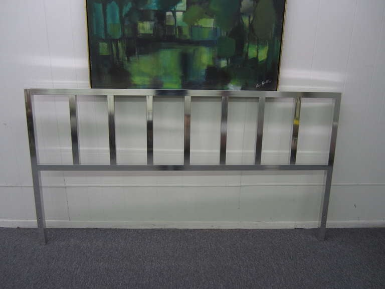 American Awesome Chunky Aluminum Headboard Mid-Century Modern For Sale