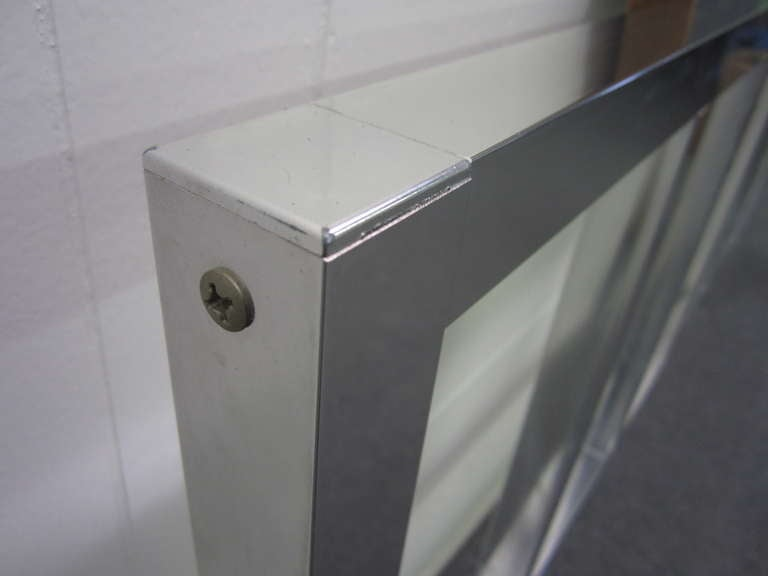 Awesome Chunky Aluminum Headboard Mid-Century Modern In Excellent Condition For Sale In Pemberton, NJ