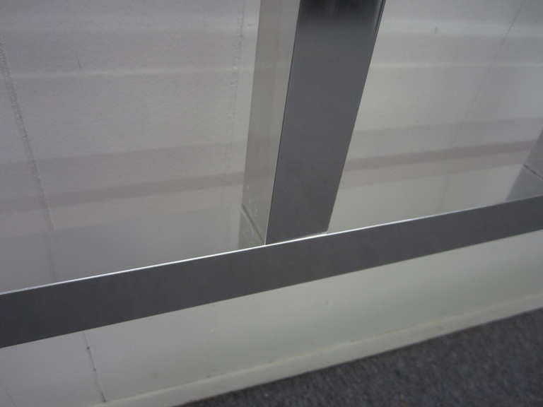 Late 20th Century Awesome Chunky Aluminum Headboard Mid-Century Modern For Sale