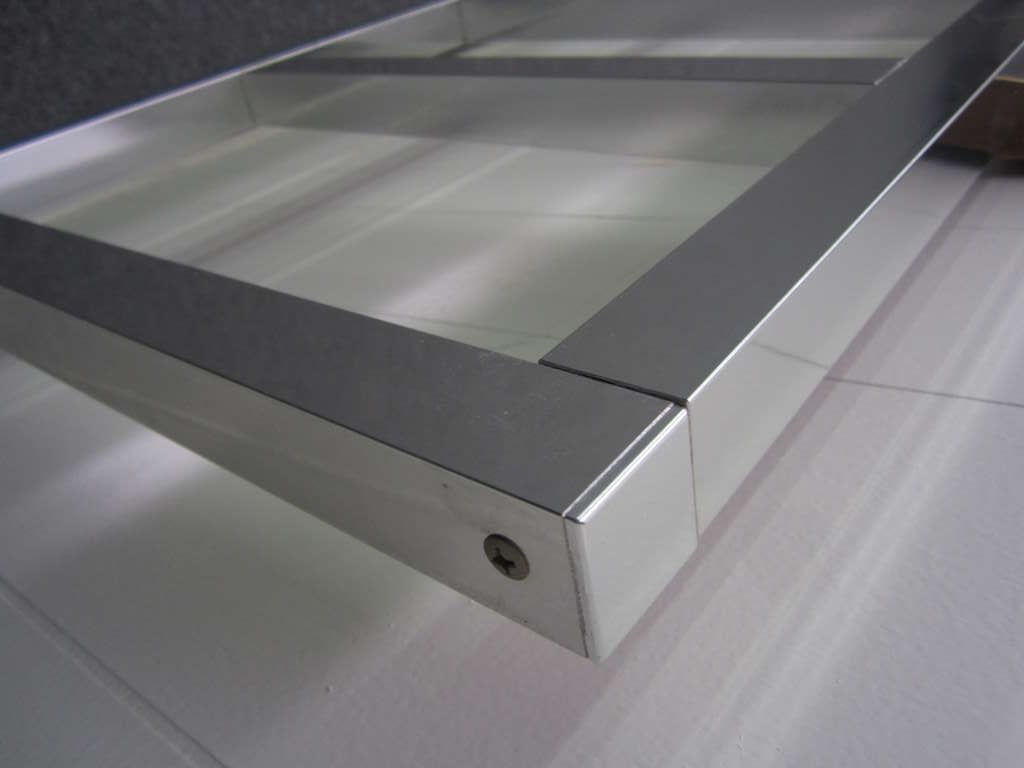 Awesome Chunky Aluminum Headboard Mid-Century Modern For Sale 2