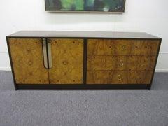 Gorgeous Milo Baughman Burled Wood Credenza Mid-century Modern