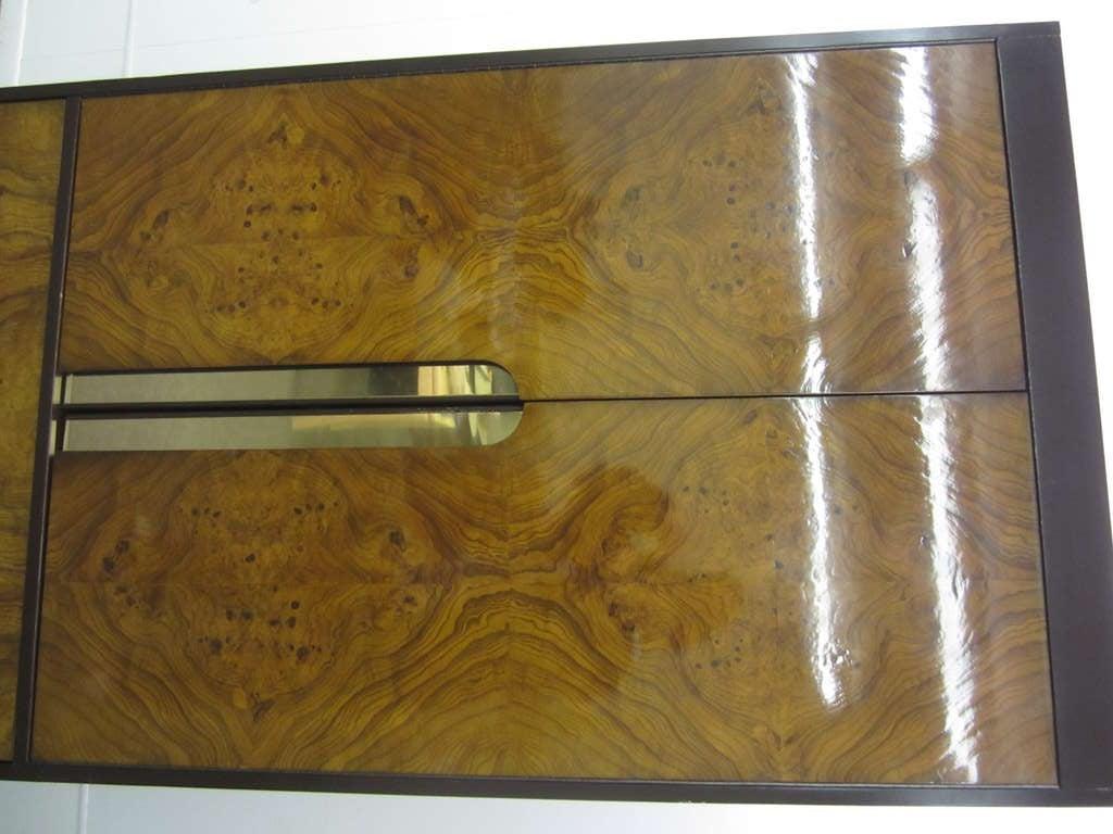 Milo Baughman Burled Wood Tall Dresser Cabinet Mid-Century Modern 2