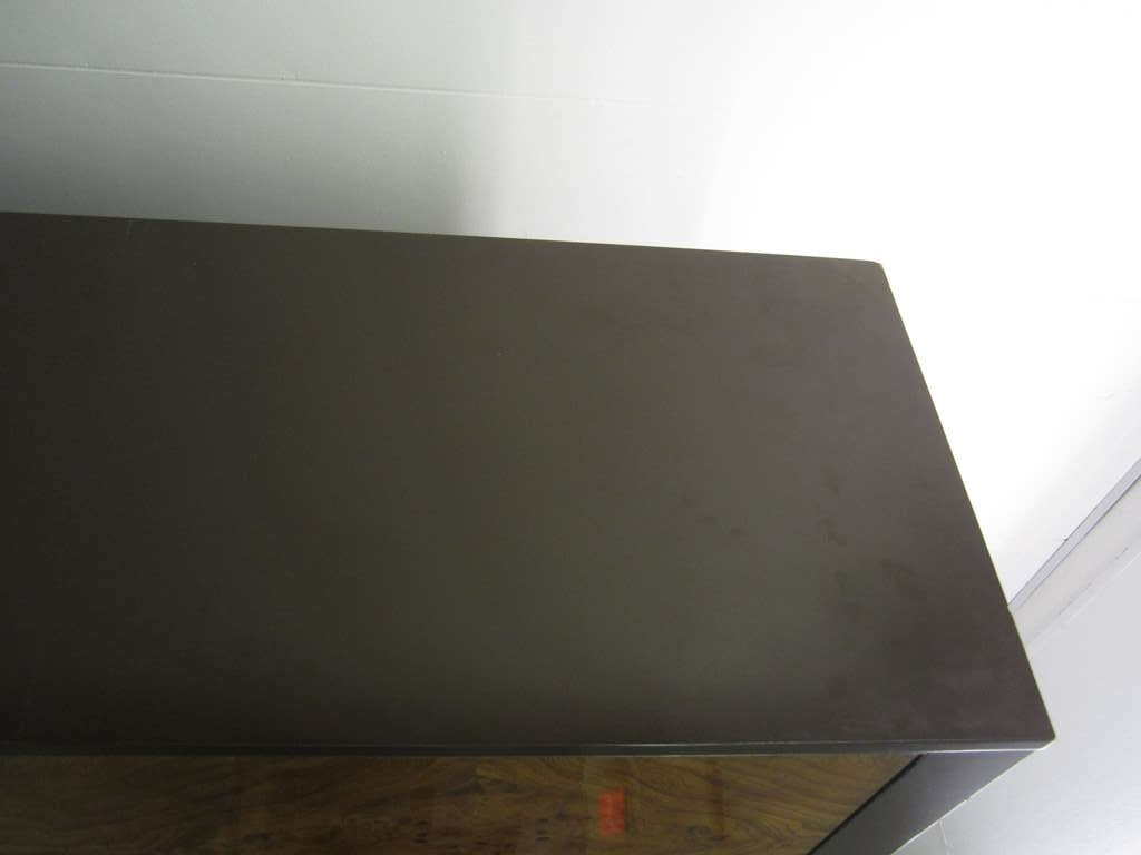 Milo Baughman Burled Wood Tall Dresser Cabinet Mid-Century Modern 9
