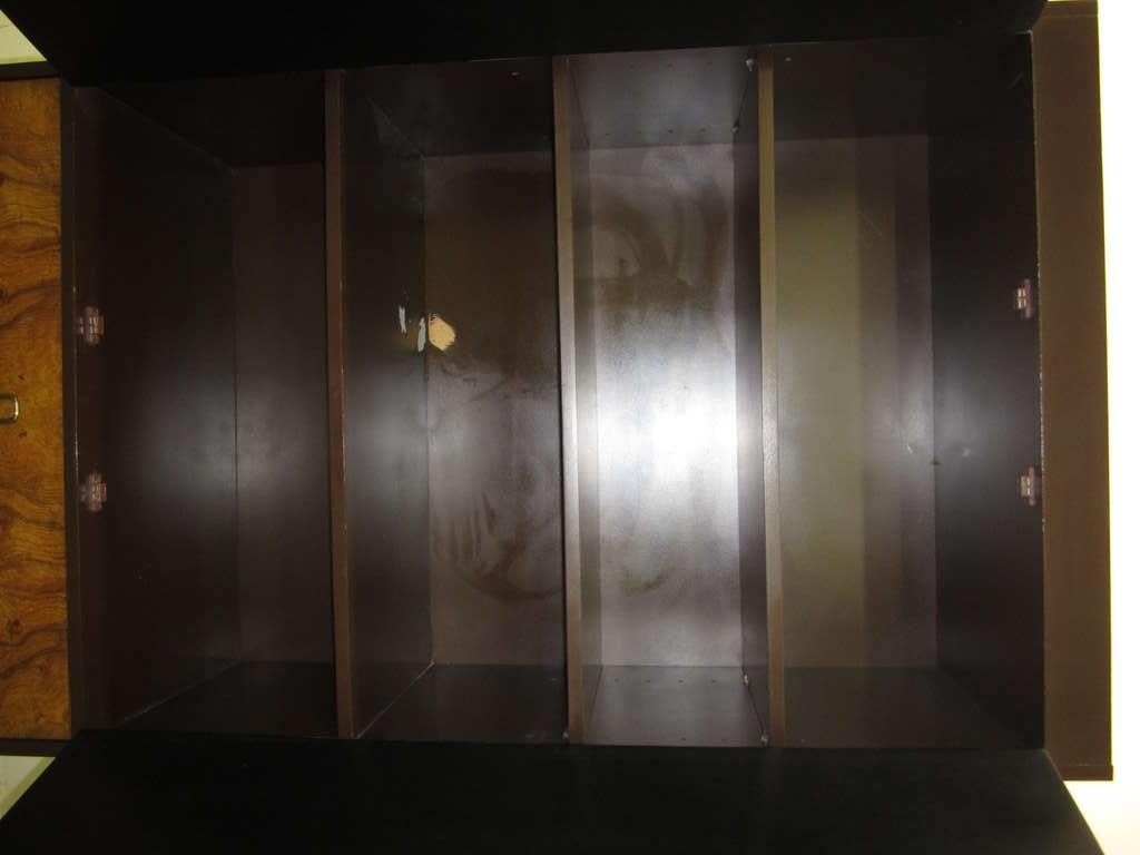 Milo Baughman Burled Wood Tall Dresser Cabinet Mid-Century Modern 5