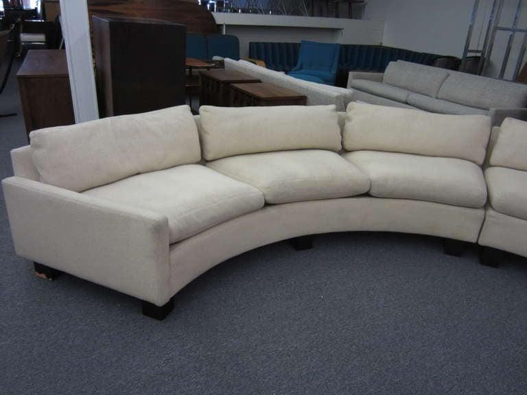 Gorgeous Pair of Circular Milo Baughman Sectional Sofas Mid-century Modern 2 : mid century modern sectional couch - Sectionals, Sofas & Couches