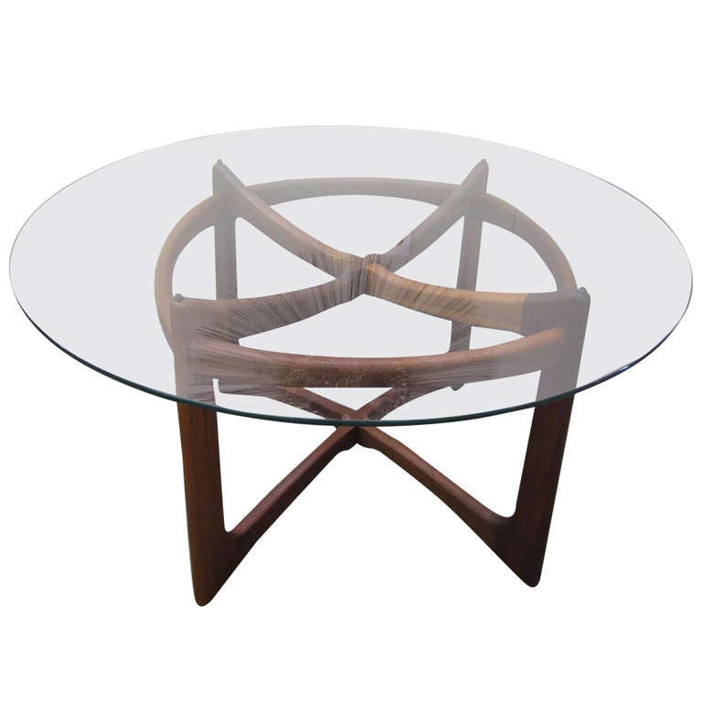 Gorgeous Adrian Pearsall Sculptural Walnut Dining Table Mid-century Modern For Sale