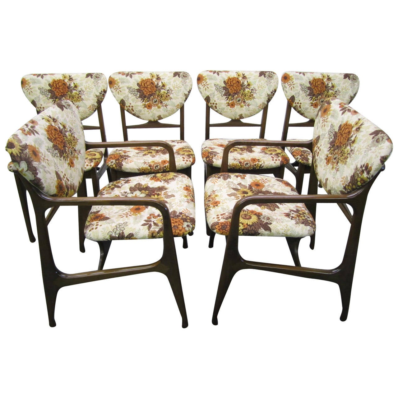 Excellent Set Of Six Dining Chairs Mid Century Modern For Sale