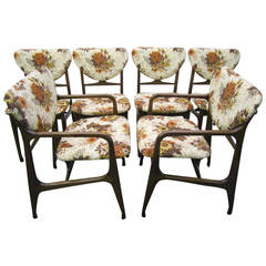 Excellent Set of Six Vladimir Kagan Style Dining Chairs, Mid-Century Modern