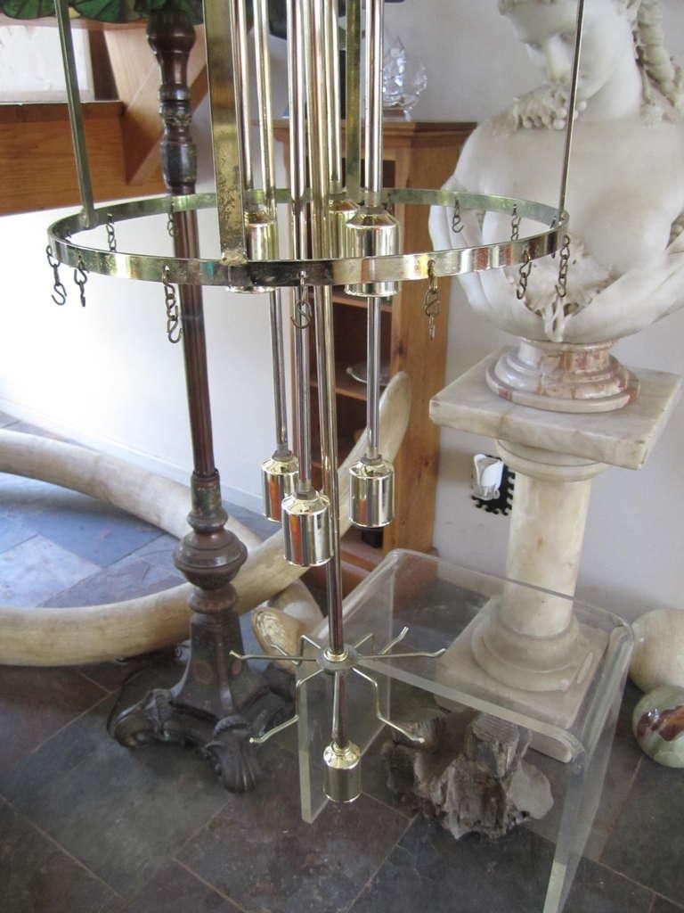 Monumental 6 Foot Camer Venini Glass Tronchi Tube Chandelier Mid-century Modern For Sale 2
