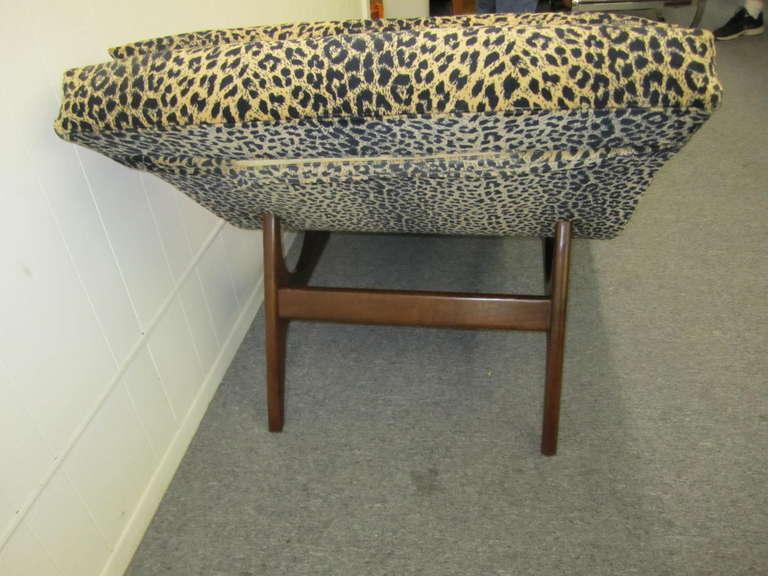 Sleek Adrian Pearsall Wave Chaise Lounge Chair Mid Century