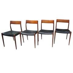 Set of 4 J L Moller Danish Chairs