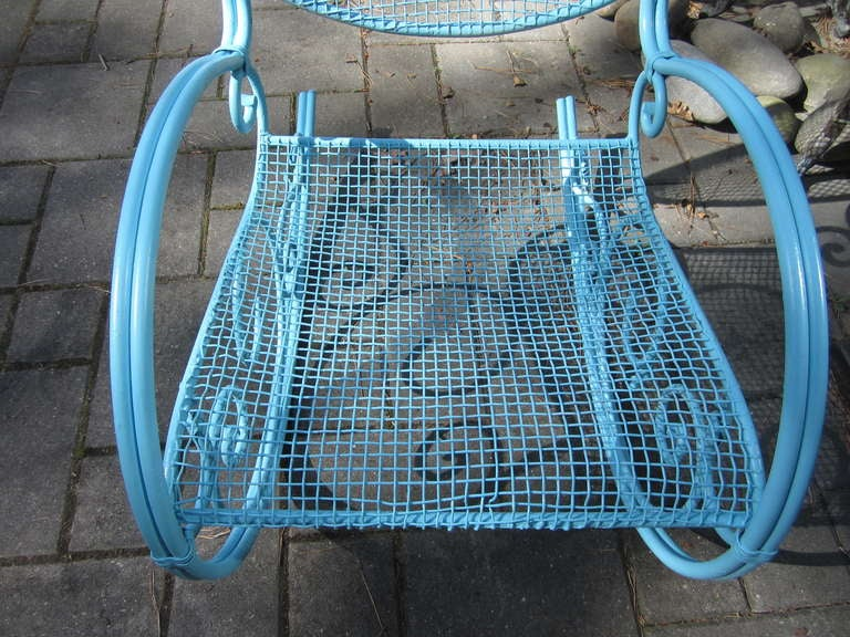 Mid-20th Century Awesome Salterini Style Mid-century Rocking Chair Patio For Sale
