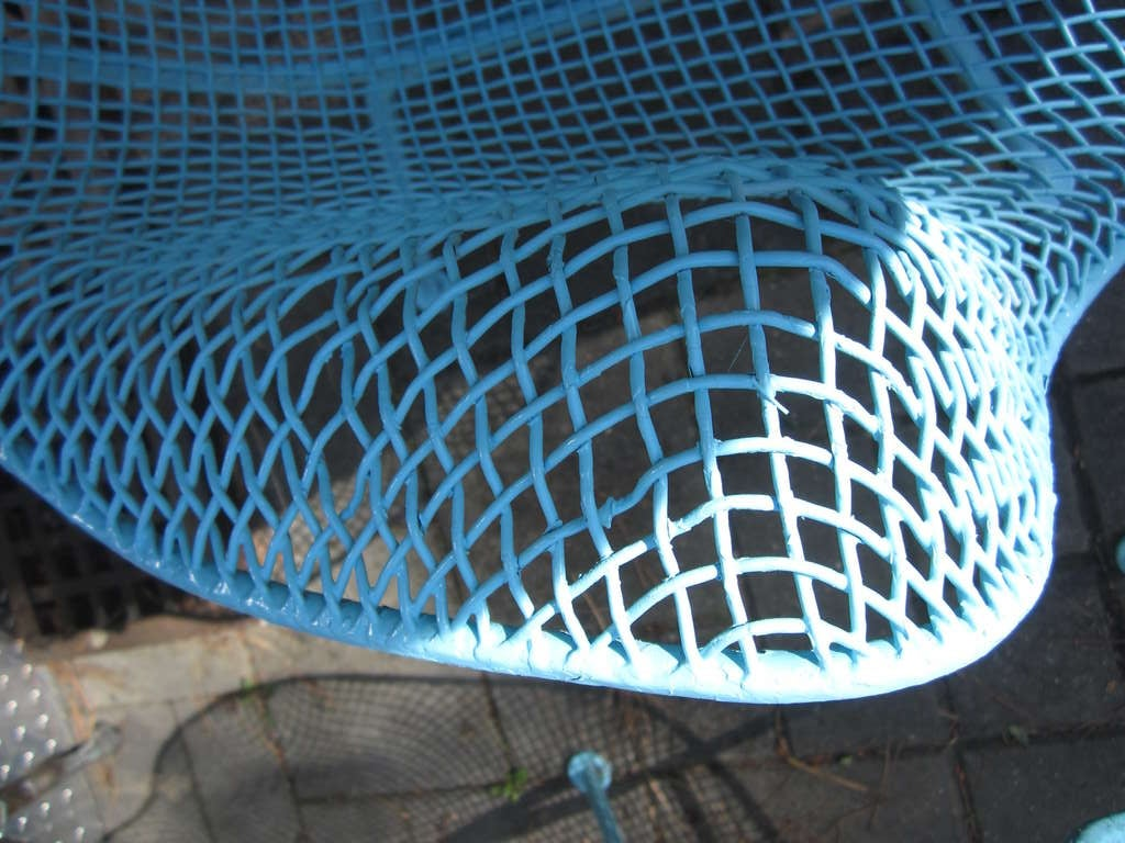 Pair Woodard Mesh Sculptra Patio Lounge Chairs Mid-century Modern For Sale 3