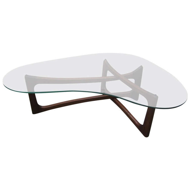 stunning adrian pearsall sculptural walnut kidney shaped dogbone coffee table at 1stdibs