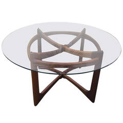 Gorgeous Adrian Pearsall Sculptural Walnut Dining Table Mid-century Modern