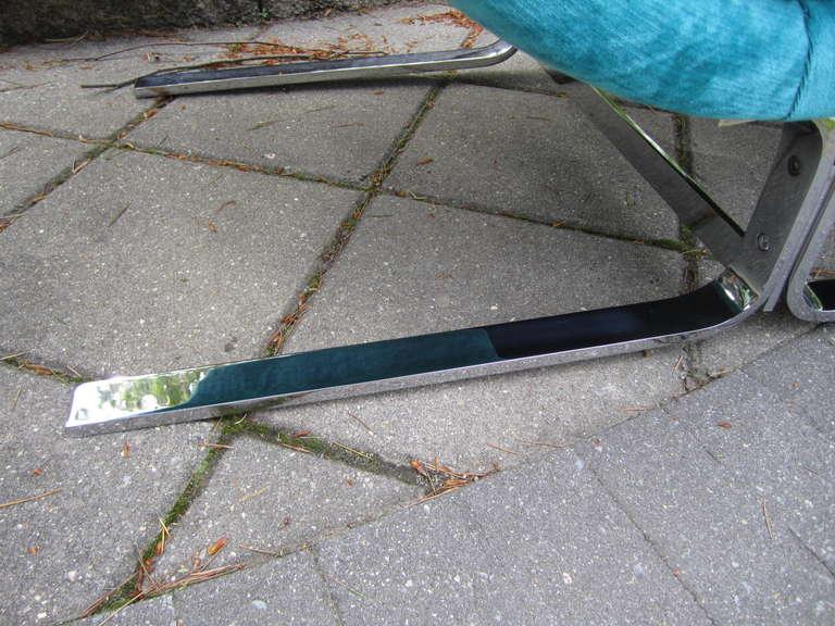 Late 20th Century Amazing Harvey Probber Chrome Chaise Longue for Brayton International For Sale