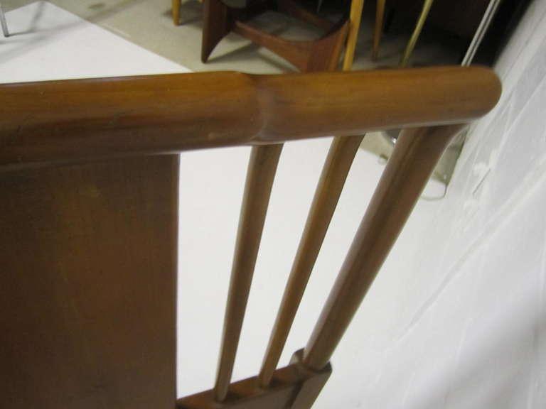 Lovely John Widdicomb Light Walnut Headboard Mid-Century Modern For Sale 5