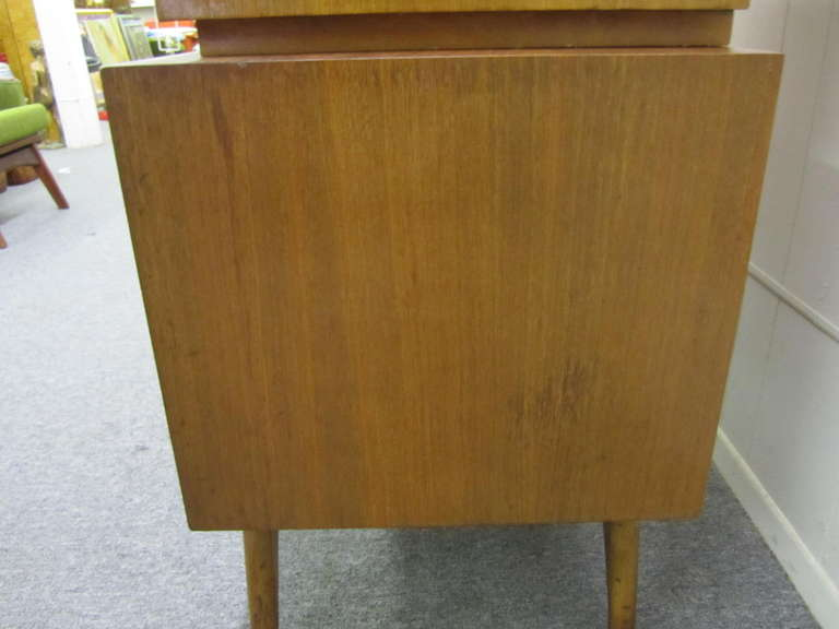 Wonderful Vladimir Kagan Style Sculptural Walnut Tall Dresser Mid-Century Modern For Sale 4