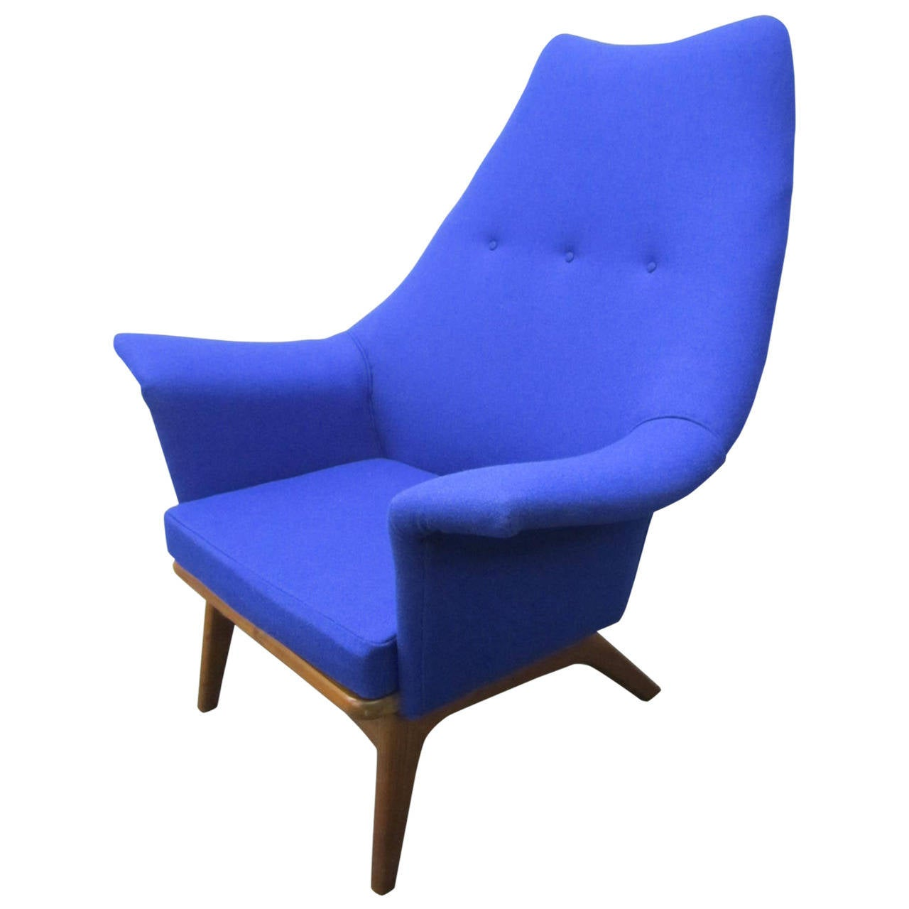 Excellent adrian pearsall sculptural walnut wingback lounge chair mid century at 1stdibs - Excellent furniture ...