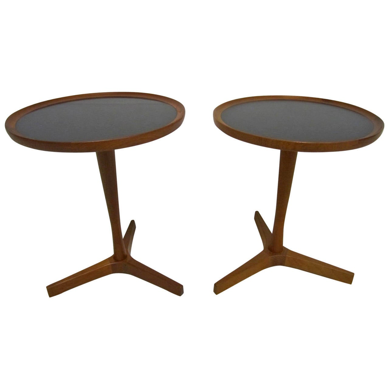 Excellent Pair Of 1950s Hans C. Andersen Teak Side Tables, Mid Century  Modern