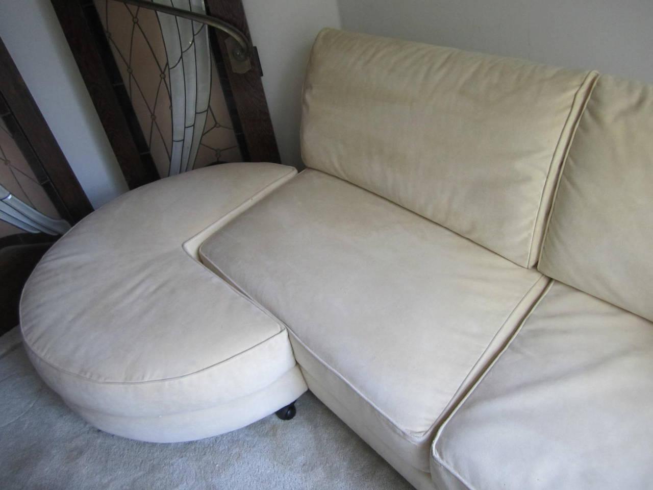 stunning italian arketipo roche bobois two piece sofa mid