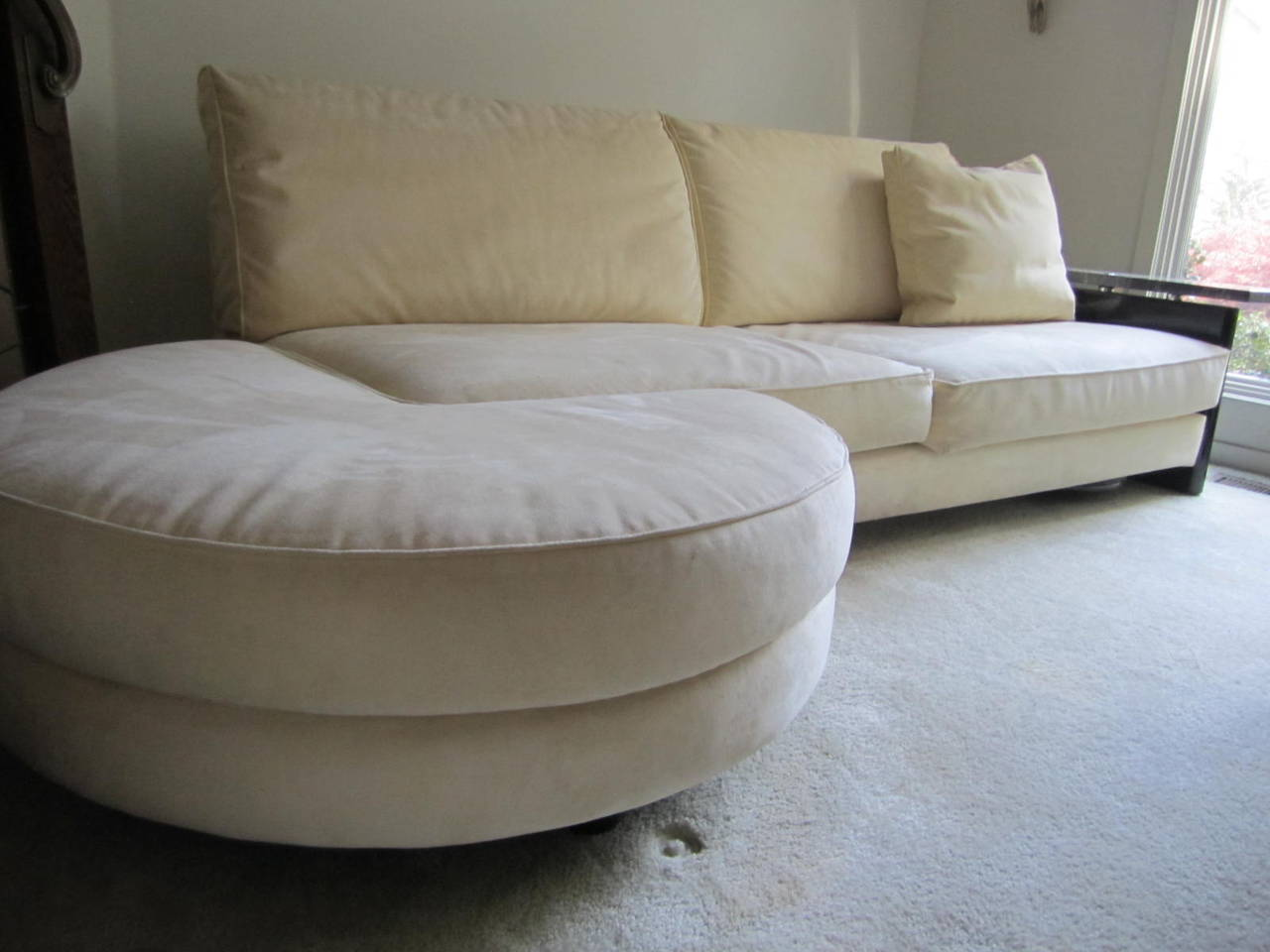 Stunning Italian Arketipo Roche Bobois Two-Piece Sofa Mid-Century Modern For Sale 3