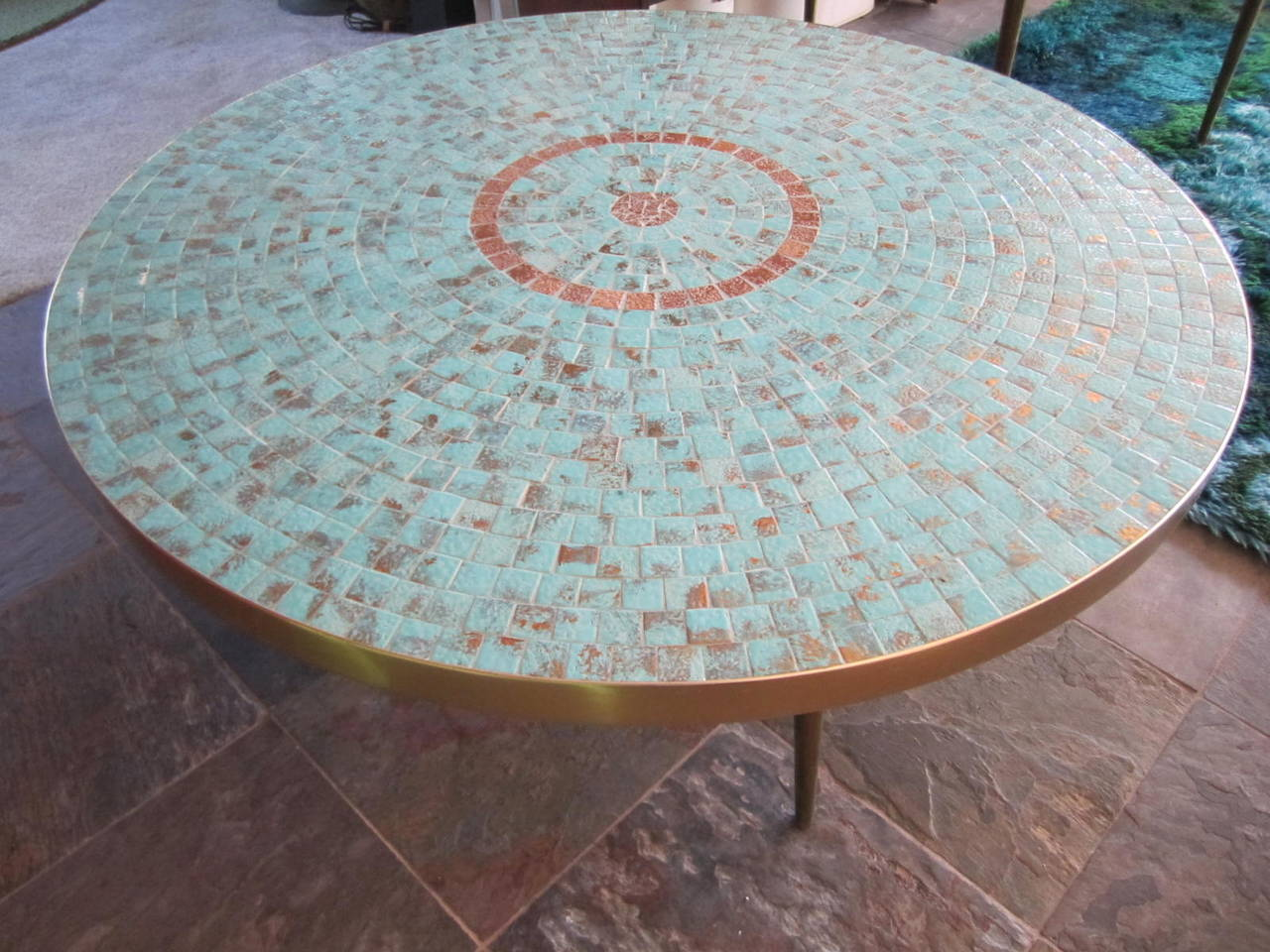 Stunning Mosaic Tile Top Tables Each Sold Separately. We Love The Two Tables  Together But