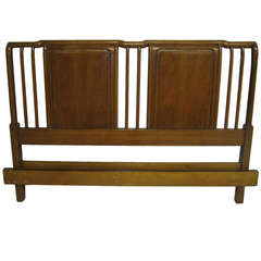 Lovely John Widdicomb Light Walnut Headboard Mid-Century Modern