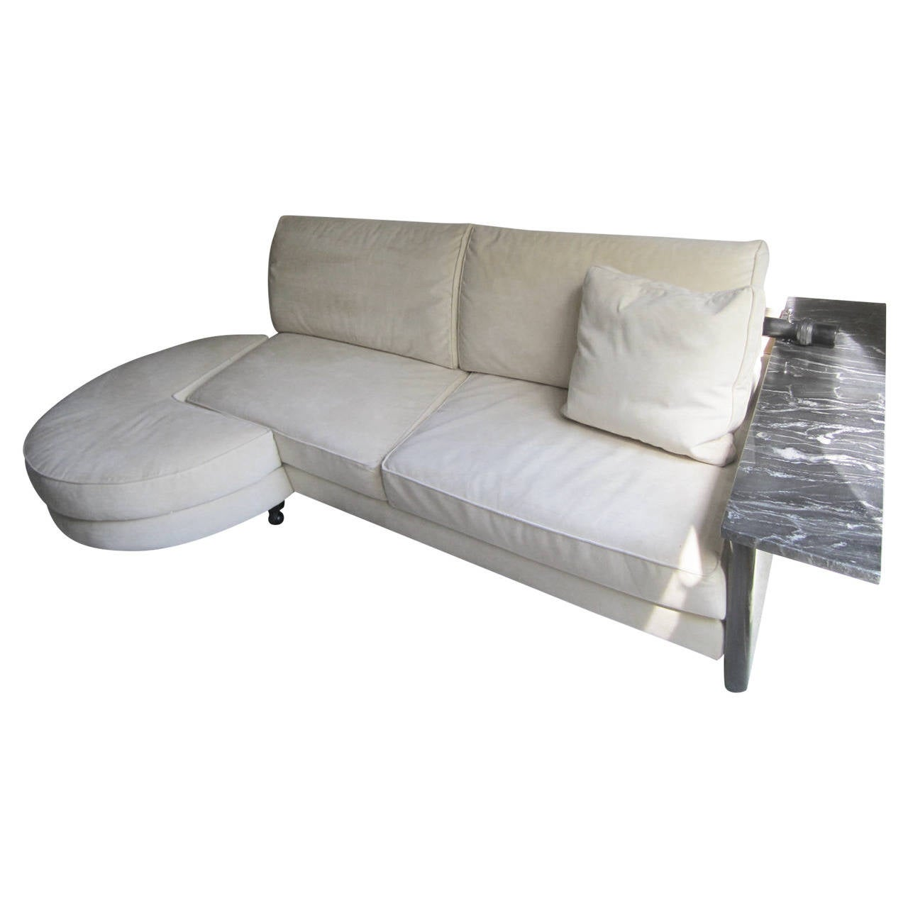 stunning italian arketipo roche bobois two piece sofa mid century modern for sale at 1stdibs. Black Bedroom Furniture Sets. Home Design Ideas