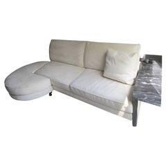 Stunning Italian Arketipo Roche Bobois Two-Piece Sofa Mid-Century Modern