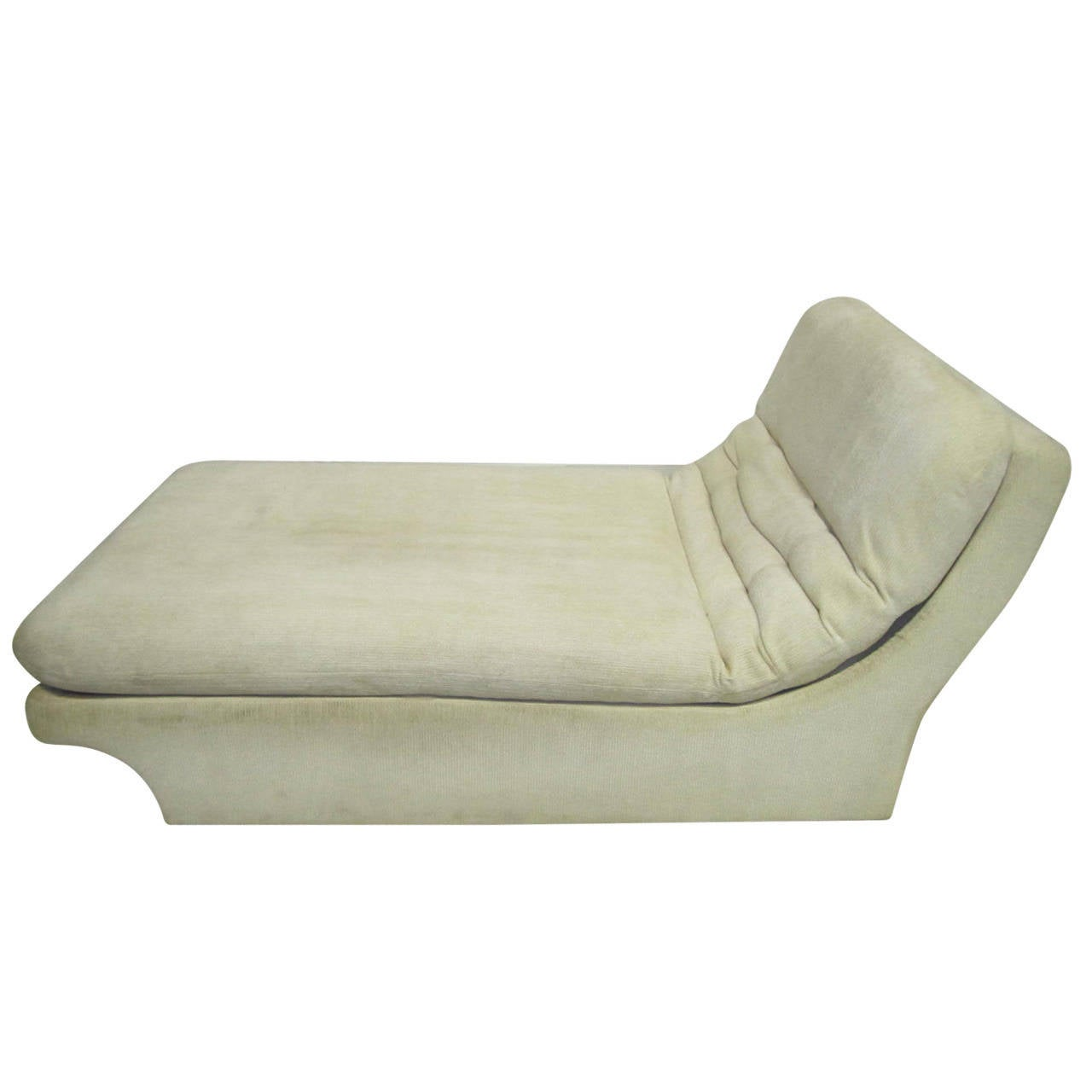 Vladimir kagan style chaise longue mid century modern at for Chaise longue moderne