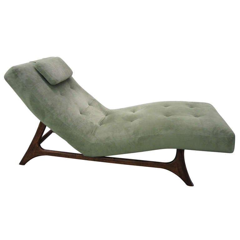 Adrian pearsall style chaise longue mid century modern at for Chaise longue or chaise lounge