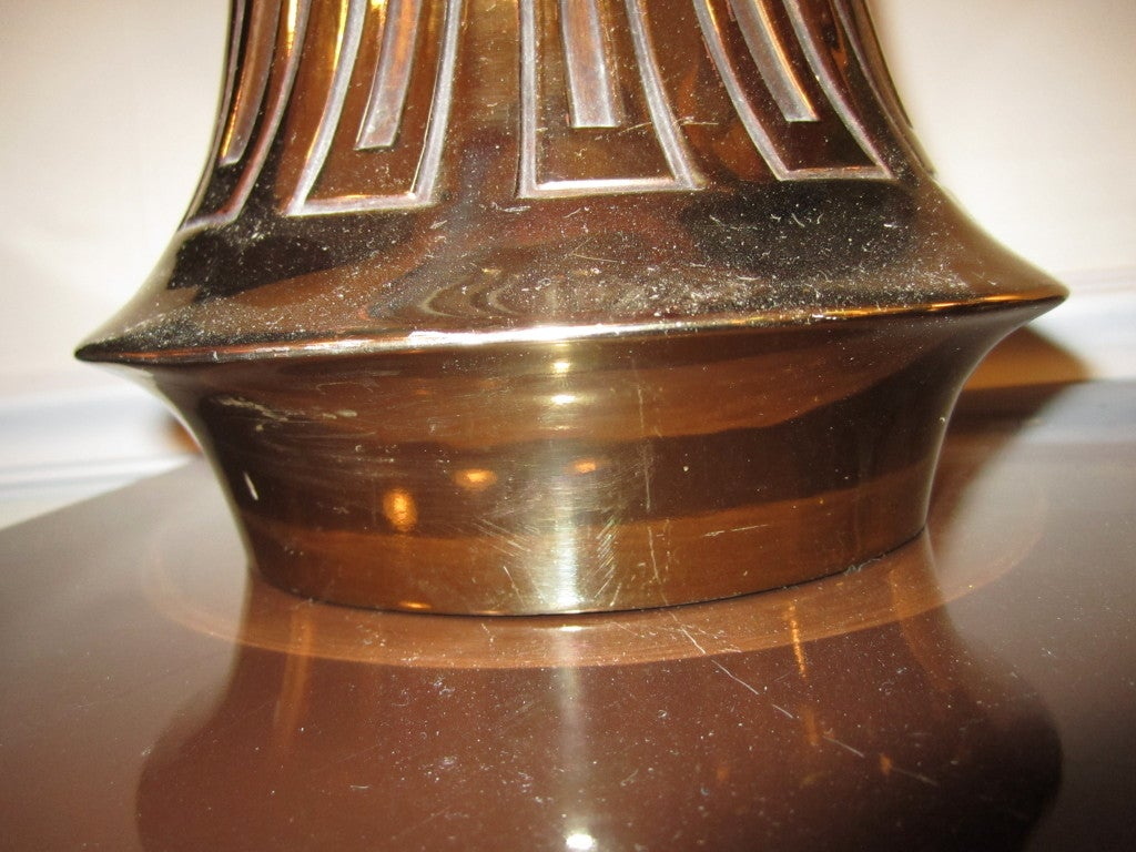 Mid-20th Century Pair Of Rosewood And Brass Tall Laurel Lamps Mid-century Danish For Sale