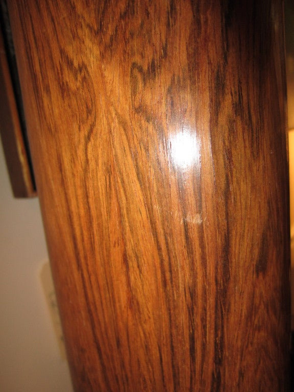Pair Of Rosewood And Brass Tall Laurel Lamps Mid-century Danish For Sale 2