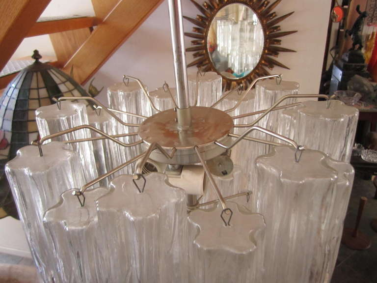 Gorgeous Italian Venini Murano tronchi tube chandelier.  I love the Smaller scale of this lovely piece