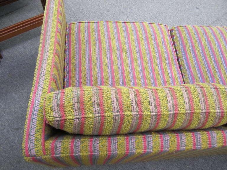 Fantastic Signed Milo Baughman Chrome Three-Seat Sofa, Mid-Century Modern For Sale 3