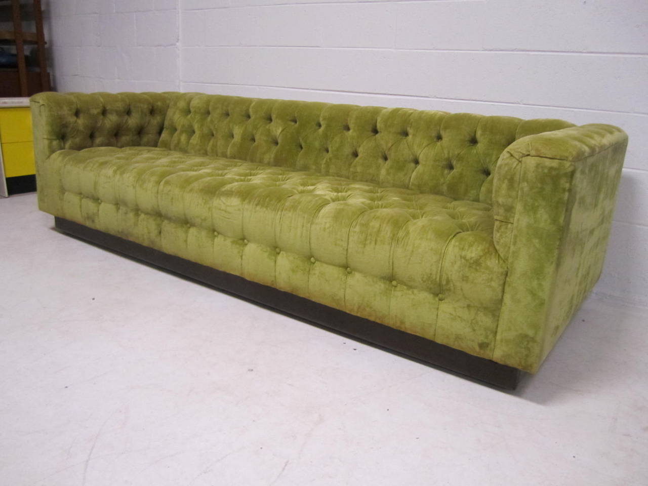 Awesome Dunbar Style Chesterfield Tufted Sofa Mid Century Modern At
