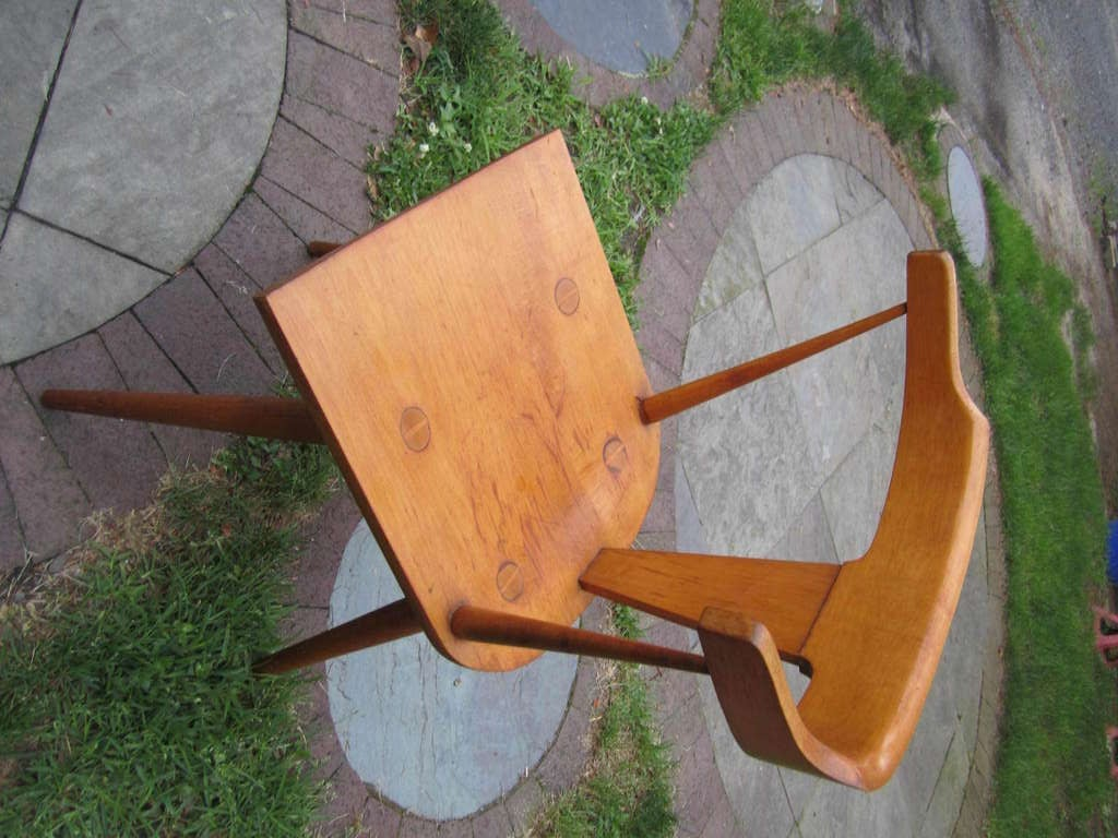 Paul Mccobb Solid Maple Desk With Chair Mid Century Modern For 4