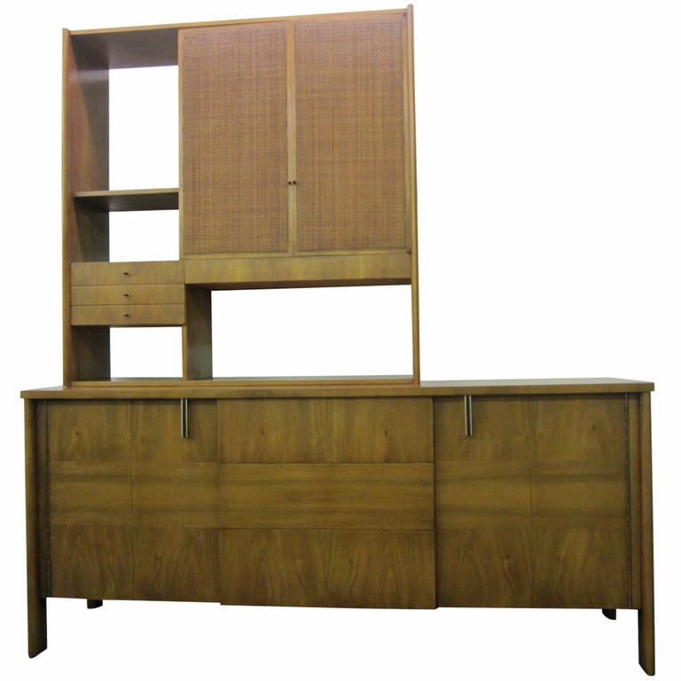 John Widdicomb Mid-century Modern Caned Top Dale Ford For Sale