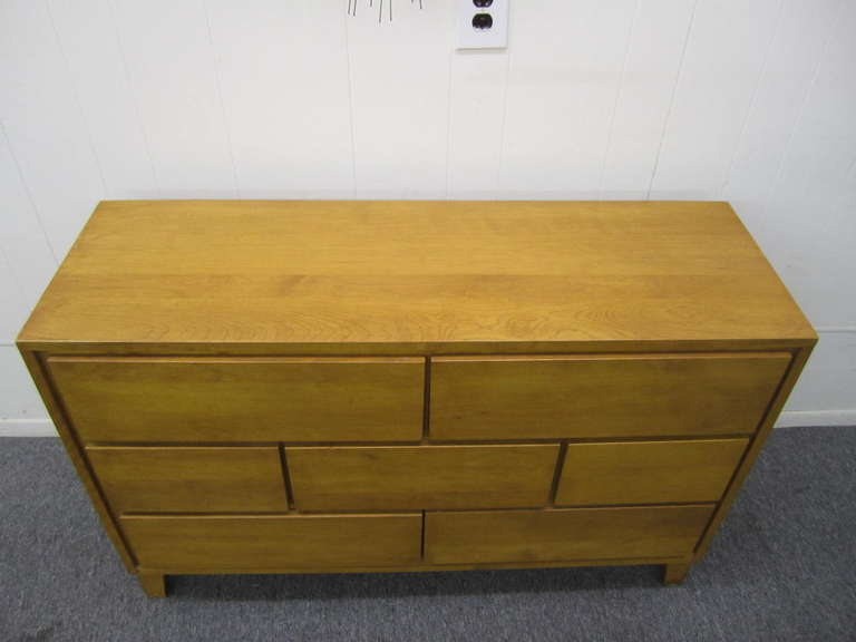 7 Drawer Solid Maple Conant Ball Dresser, Russel Wright, Mid-Century Modern 2